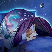 LAMPSJN Kids Dream Bed Pop Up Tents with Light,