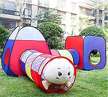 LAMPSJN Kids Tunnel Tent, Play Tent 3 In 1 Pop Up