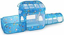 LAMPSJN Play House Tent Tunnel, 3 in 1 Kids Pop Up