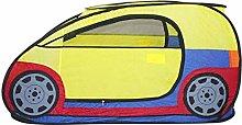 LAMPSJN Pop Up Play Tent Yellow Foldable Car Tent