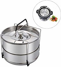 Lamptti 2 Tier Steamer Inserts, 304 Stainless