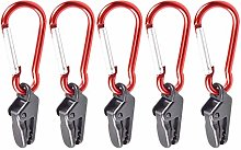 Lamptti 5/10/20Pcs Plastic Wind Rope Snap Clips
