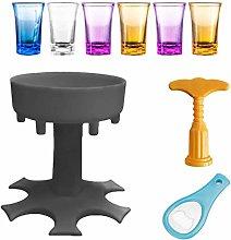Lamptti 6 Shot Glass Dispenser and Holder,Drinking