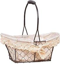 Lamptti European Vintage Iron Wire Mesh Basket -