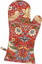 Lamson Strawberry Thief Oven Gloves Lily Manor