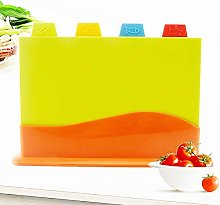 lamta1k Chopping Board,4Pcs Colour Coded Chopping