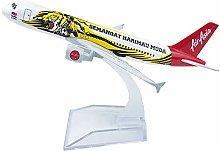 Lan Yu-A320 Air Asia Tiger Alloy Airplane 16cm