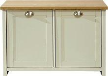 Lancaster 2 Door Shoe Cabinet - Cream