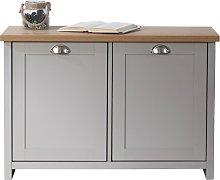 Lancaster 2 Door Shoe Cabinet - Grey