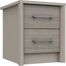 Lancaster 2 Drawer Bedside Table - Grey