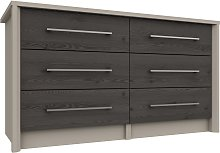 Lancaster 3 + 3 Drawer Chest - Dark Grey