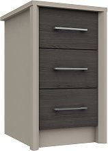 Lancaster 3 Drawer Bedside Table - Dark Grey