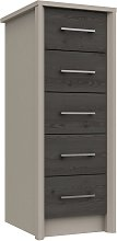Lancaster 5 Drawer Tallboy - Dark Grey