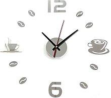Lancy_Luna Coffee Cups Beans 3D DIY Wall Clock