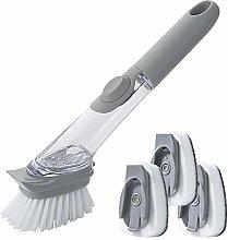 LandJoy Soap Dispensing Dish Brush Pot Clean