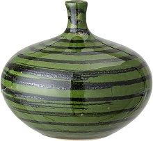 Landroff green stoneware vase