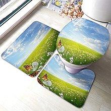 Landscape Bathmat,Beautiful Landscape With
