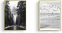 Landscape Black & White Art Posters Wall Art