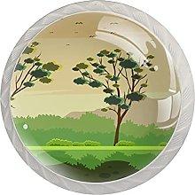 Landscape Gum Tree, Modern Minimalist Printing