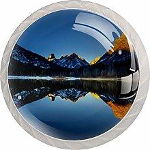 Landscape Lake Sky Water 4pcs Glass Cupboard