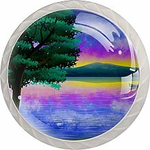 Landscape Painting 4PCS Drawer Knobs,Cabinet