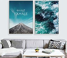 Landscape Posters and Prints Mountain Sea Animal