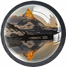 Landscape Reflection Crystal Drawer Handles