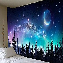 Landscape tapestry moon big tapestry forest wall
