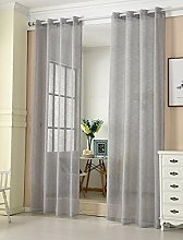 Laneetal Sheer Curtain Dark Grey Woven Voile