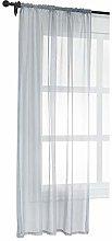 Laneetal Sheer Curtain Grey Woven Voile Pencil