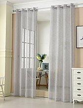 Laneetal Woven Voile Sheer Curtains Eyelet Top