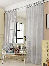 Laneetal Woven Voile Sheer Curtains Tab Top