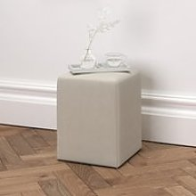 Langley Cotton Stool, Silver Cotton, One Size