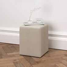 Langley Linen Union Stool, Natural Linen Union,