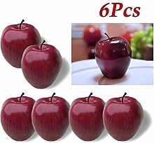 LANGPIAOEZU Realistic 6pcs Artificial apples