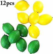 LANGPIAOEZU Realistic Artificial Lemon Apples