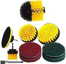 Langray - 12Pcs / Set Drill Brush Accessories Set