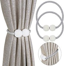 Langray - 2 Piece Magnetic Curtain Tieback,