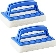 LangRay 2 Piece Pool Brush, Pool Cleaning Hand