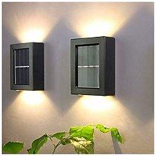 LangRay 2Pcs Solar Wall Light Waterproof Outdoor