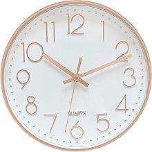 LangRay 30cm Round Modern Quartz Silent Wall Clock