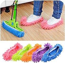 LangRay 5 Pairs Dust Mop Floor Cleaner Slippers