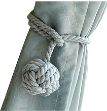 LangRay A Pair of Rope Cotton Curtain Tieback