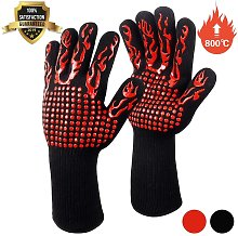 Langray - Barbecue Gloves, Oven Gloves, Non-Slip
