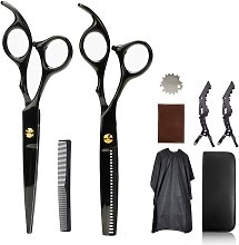 LangRay Barber Scissors Pack with Cleaning Cloth