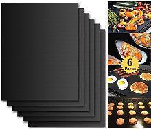 Langray - BBQ Grill Mat, Set of 6 Non Stick BBQ