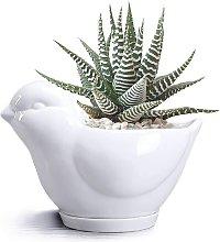 LangRay Cute Animals Ceramic Flower Pot Animal