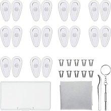 LangRay Eyewear Repair Kit 10 Pairs Silicone Nose