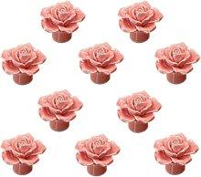 LangRay Fleur Rose Ceramic Door Handle Dresser