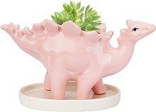 LangRay Flower Pots, Ceramic Dinosaur Pot